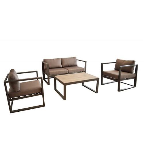 Salon de jardin Venus avec 2 fauteuils, 1 table basse et 1