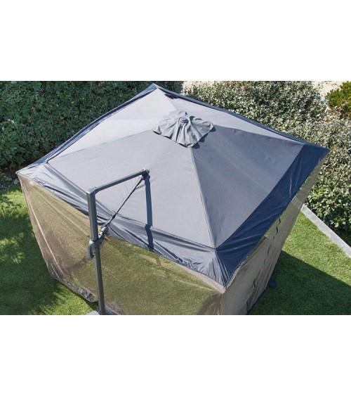 Moustiquaire pour parasol déporté 300x300 Housse et accessoire
