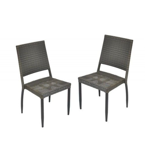 Chaise de jardin soleo proloisirs - Chaise de jardin resine tressee ...