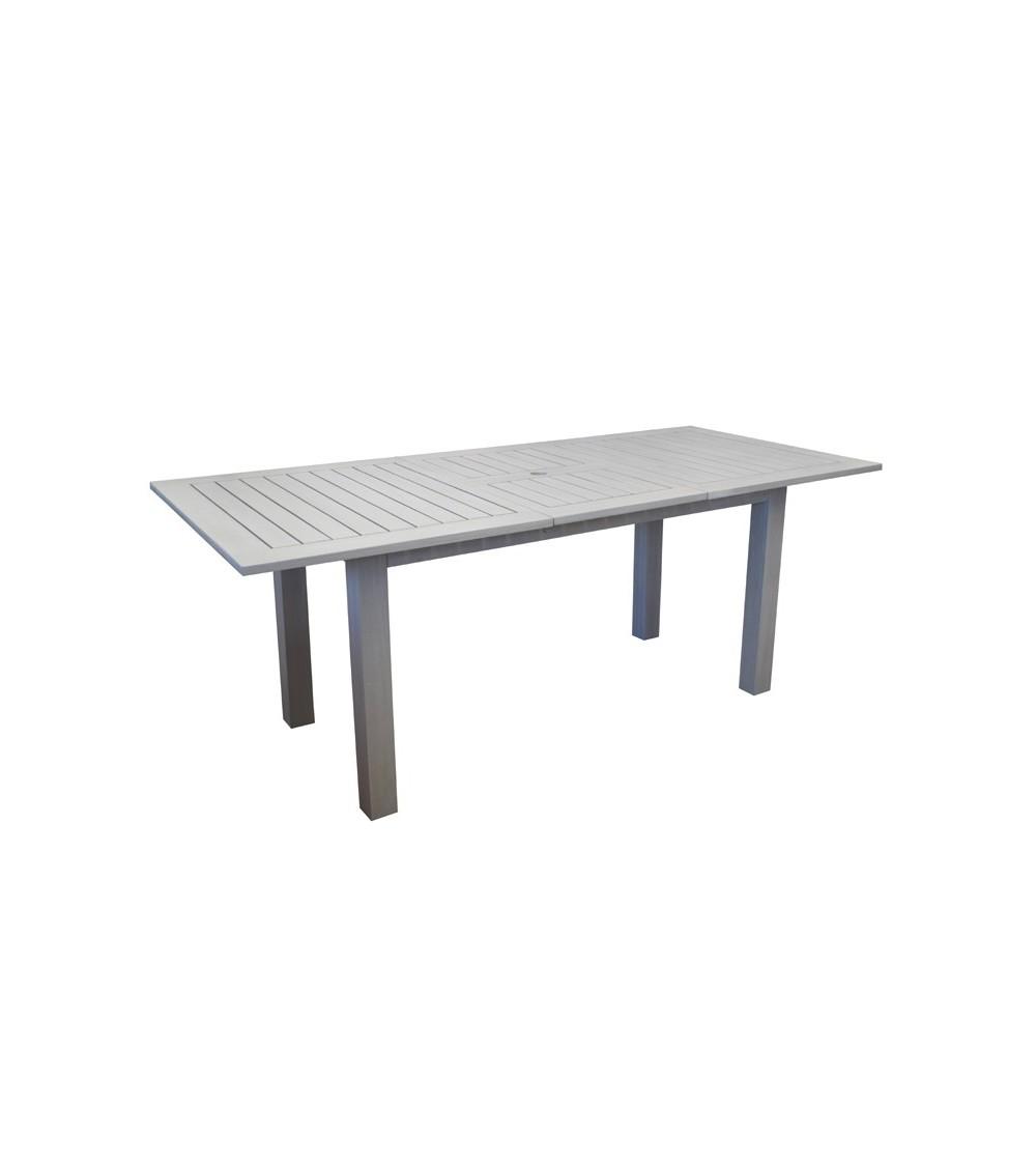 Table de jardin NIAGARA 150/200 avec allonge escamotable pour 6 à 8  convives.