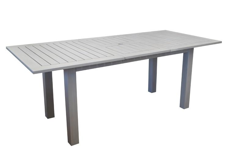 Table de jardin NIAGARA 150/200 avec allonge escamotable pour 6 à 8 ...