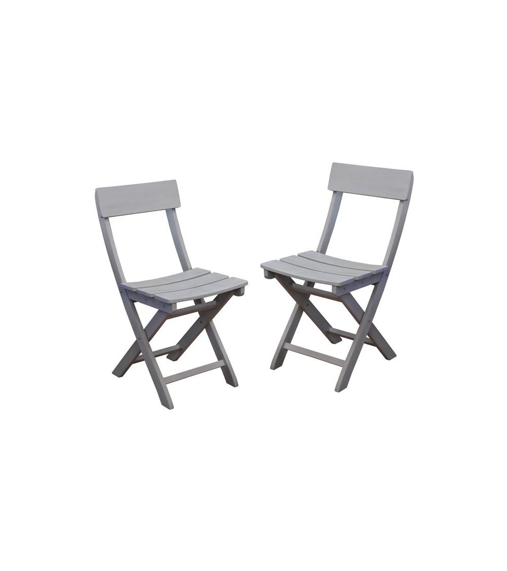 Chaise de jardin pliante niagara par lot de 2 chaises for Table exterieur niagara