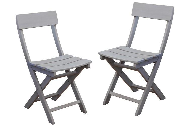 Chaise de jardin pliante NIAGARA - Par lot de 2 chaises.